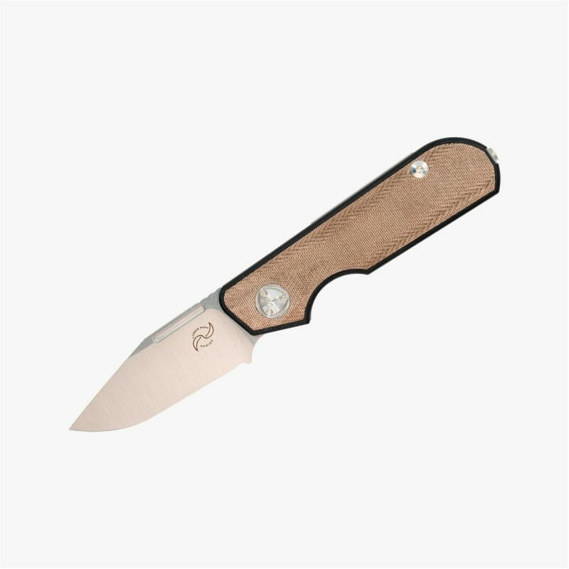 lmd - traveler - Clip Point - Green Micarta edc folding knife